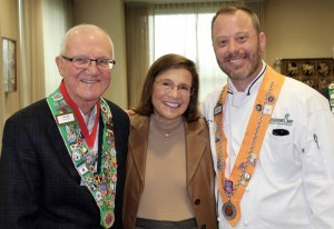 Chambellan Provincial Irwin Weinberg, Barbara Weinberg, Chef Rôtisseur Alan Neace