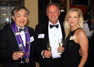 Chevalier Chuck Hong, New Inductee Chevalier Kelly Meyer, and Lisa Meyer