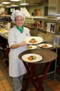 Young Chef competitor ready to present to judges