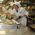 Young Chefs preparing their dishes