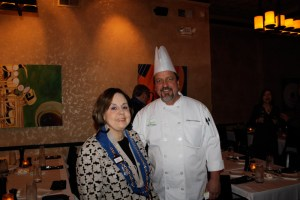 Vice Conseiller Gastronomique Marilyn Harris and Chef Gaetano Williams