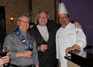Clint Haynes, Al Vontz, III, and Chef Gaetano Williams
