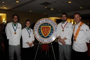 Young Chefs Kevin Kleist, Katelyn Banks, Nick Elison, Alan Neace