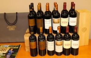 Bordeaux wine selections
