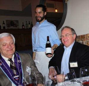 Chevalier Ken Kenniston, Jr., Red Feather waiter, and Lee Robinson