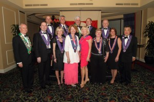 2013 inductees with officers