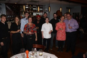 La Poste Restaurant staff with Owner/Chef Angie Willett and Owner Joe Clark at right