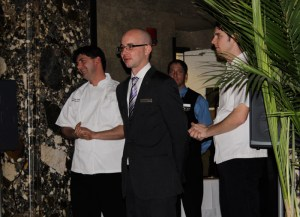 Chef Todd Kelly, Maitre d' Charles Redmond, and staff