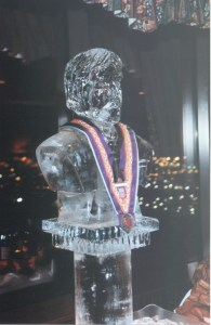 Ice sculpture at reception