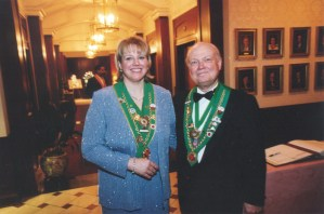 Bailli Provincial Jill Kummer and Bailli Peter Hainline