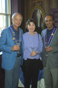 Vice Chancelier-Argentier Andrew Robell, Mary Robell, Devinder Mangat