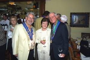 Suzanne Hasl, Vice Conseiller Gastronomique Robert Hasl, Mary Hainline, Irwin Weinberg