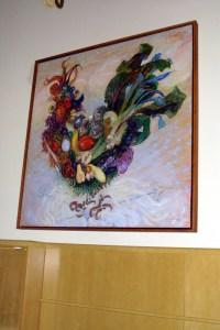 Rooster cornucopia painting