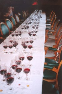 Table ready for the blind tasting