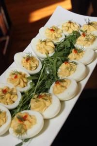 Caviar deviled eggs