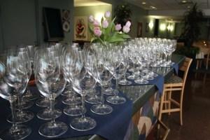 Glassware at Summit Restaurant