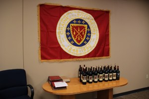Heitz wines and Chaîne flag