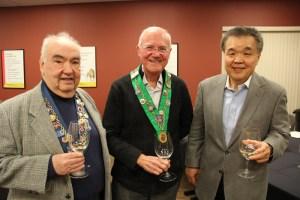 Bill Eckerle, Bailli Hon. Irwin Weinberg, Chuck Hong