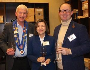 Vice Chargé de Presse Graig Smith, Jeane Elliott, and Chevalier Kelly Fulmer