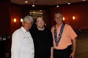 "Michael ""Funky"" Forgus, Chef James Trent, Michael Monin"