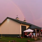Rainbow over the Haynes' country home