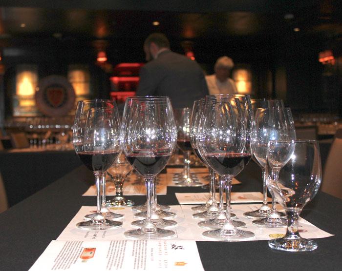 The wine line-up