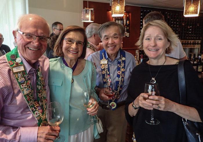 Irwin Weinberg, Barbara Weinberg, Chuck Hong, Lindy Miller