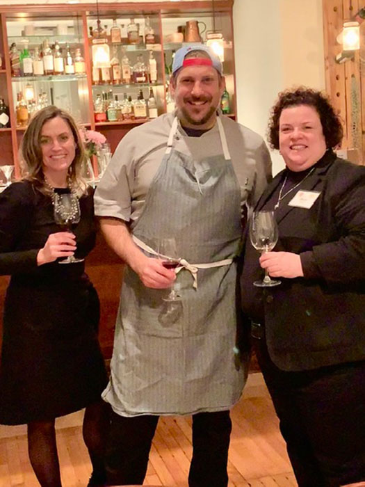 Brandy Steinhauser, Chef Brad Bernstein and Mary Horn