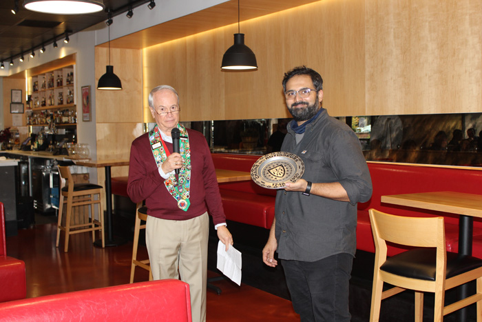 Chef Bhumin Desai, Bailli George Elliott