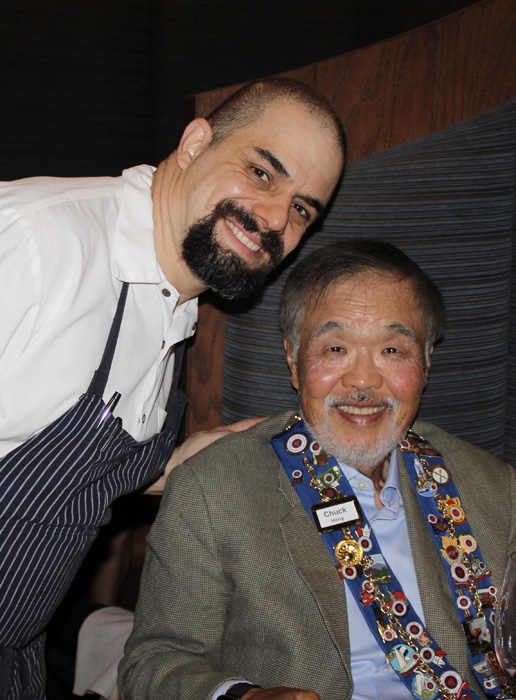 Chef Salazar and Chuck Hong