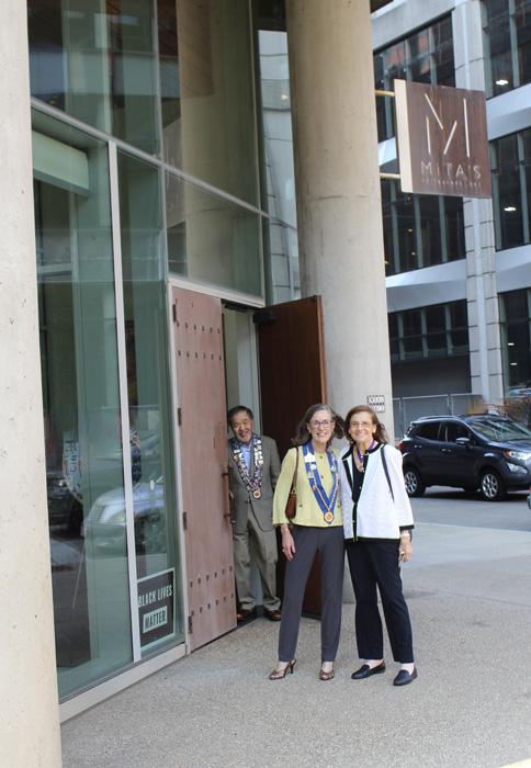 Chuck Hong, Janet Reynolds, and Barbara Weinberg