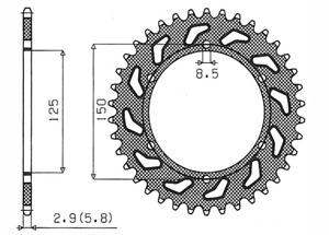 Kit KTM Enduro 690 /Enduro 690 R 08- DID