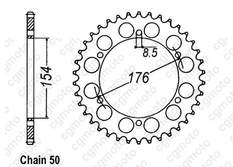 Chain and Sprocket kits for HONDA VFR 800 FI RC46 2001