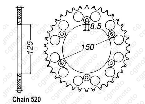 Chain and Sprocket kits for KTM EXC 400 RACING 4T ENDURO 2009