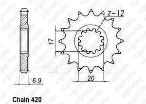 Chain and Sprocket kits for PEUGEOT XPS 50 ENDURO 2005