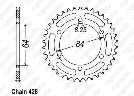 Chain and Sprocket kits for SUZUKI DR 125 SE SF43A SF44A 2003