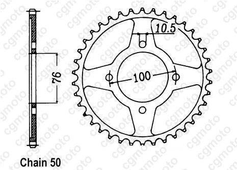 Chain and Sprocket kits for SUZUKI GSX 600 F GN72B 1995