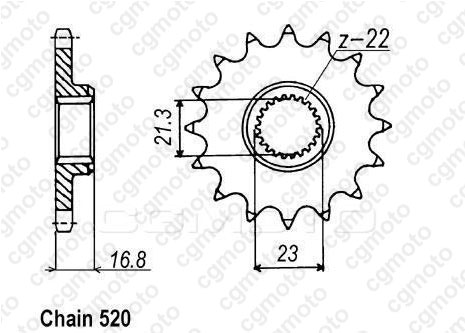 Chain and Sprocket kits for YAMAHA XJ 600 S DIVERSION 4BR 1994