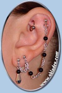 Fancy Crystal Cuff earring, Unpierced to multiple pierced ...
