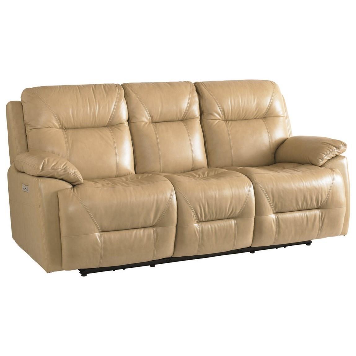 Bassett Leather Power Recline Sofa W Power Headrests