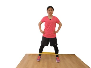 mini-band-lateral-walk