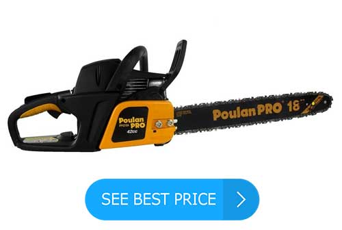 Poulan Pro PP4218A 18 Inch 42CC 2 Cycle Gas Chainsaw, Certified Refurbished Review