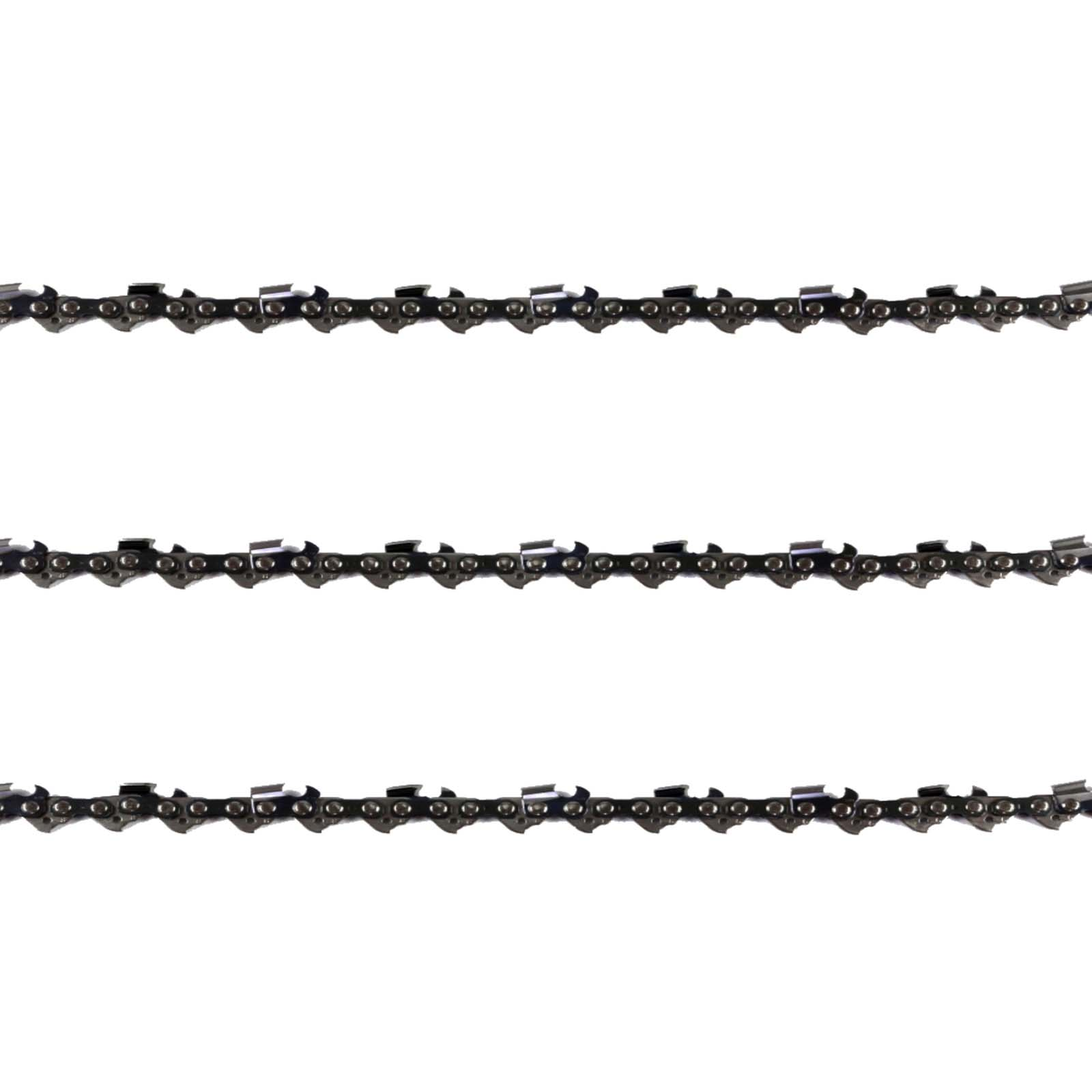 3x Chainsaw Chains Full Chisel 3/8 058 72DL for Husqvarna