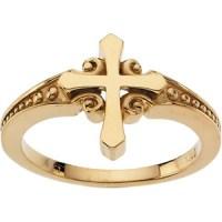 Gold Cross Ring
