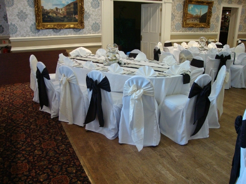 chair covers hire bolton white bistro by ashland linen sashes table decorations for weddings ashfield house standish