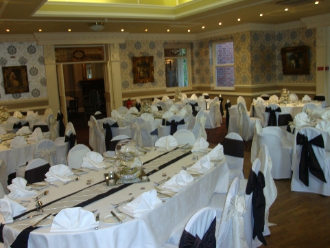 chair covers hire bolton cheap stackable chairs linen sashes table decorations for weddings ashfield house standish