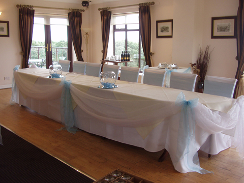 chair covers hire bolton plastic for dining room seats linen sashes table decorations weddings houghwood golf club st helens