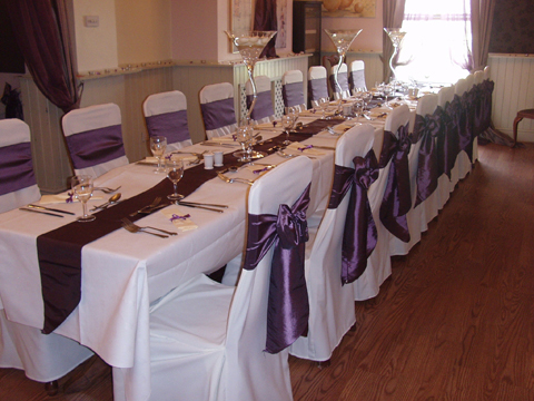 chair covers hire bolton solid oak dining table and chairs linen sashes decorations for weddings the crown worthington