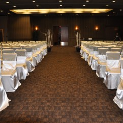 Affordable Chair Covers Calgary Cover Rental Brooklyn Affair Gallery Hotel Arts Satin Self Tie With Silver Sash At