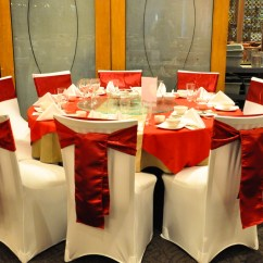 Affordable Chair Covers Calgary Pink Gold Affair Gallery Forbidden City White Spandex Cover With Red Satin Sash